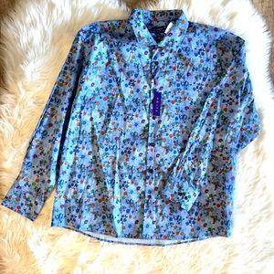 Kolte Blue Floral Sport Streth Shirt